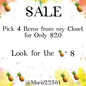 SALE Pick 4 Items from my Closet for only $20